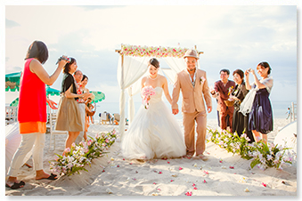 beach western wedding phuket