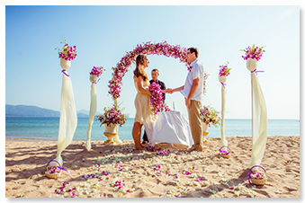 private beach western wedding phuket