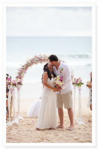 on the beach wedding phuket