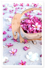 beach wedding flower dec