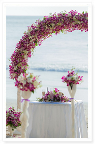 wedding packages on the beach
