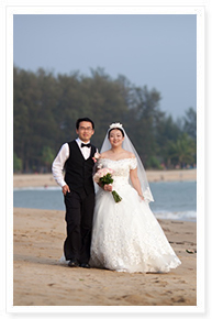 simple romantic wedding phuket
